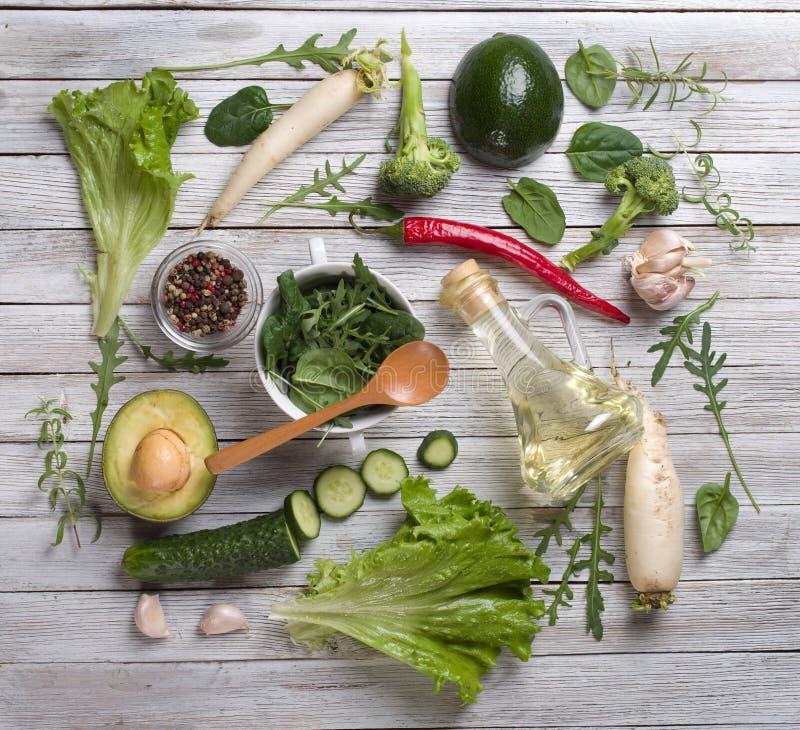 πράσινα λαχανικά μιγμάτων στοκ εικόνα