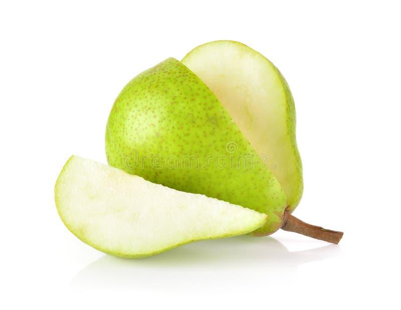 Πράσινα αχλάδια που απομονώνονται στο άσπρο υπόβαθρο στοκ φωτογραφίες με δικαίωμα ελεύθερης χρήσης