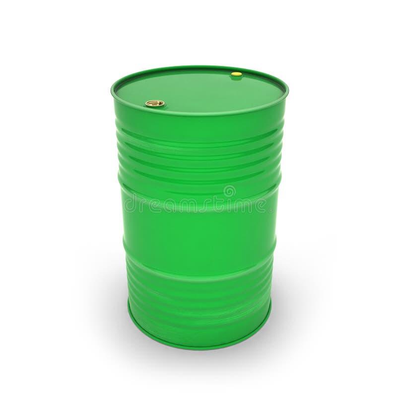 Πράσινα βαρέλια σε ένα άσπρο υπόβαθρο διανυσματική απεικόνιση