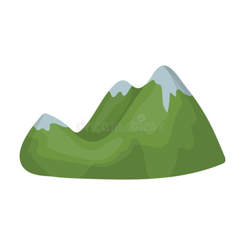 πράσινα βουνά Σειρά βουνών που καλύπτεται με το πυκνό forestDifferent ενιαίο εικονίδιο βουνών στο διανυσματικό σύμβολο ύφους κινο διανυσματική απεικόνιση