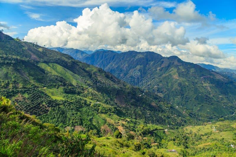 πράσινα βουνά τοπίων στοκ εικόνα