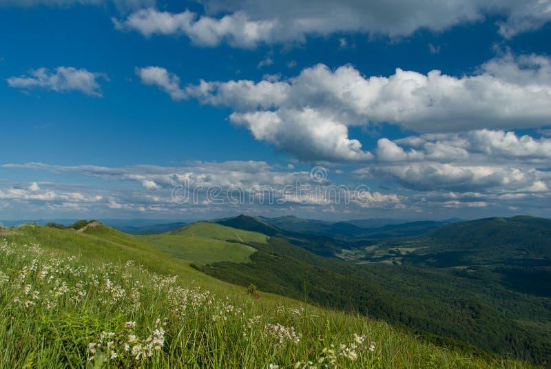 πράσινα βουνά στοκ εικόνες