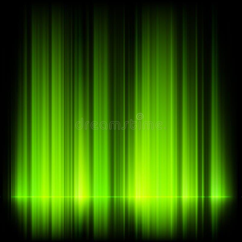 Πράσινα βόρεια φω'τα, borealis αυγής. ελεύθερη απεικόνιση δικαιώματος