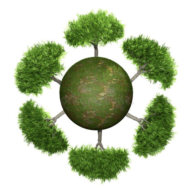 πράσινα δέντρα σφαιρών διανυσματική απεικόνιση