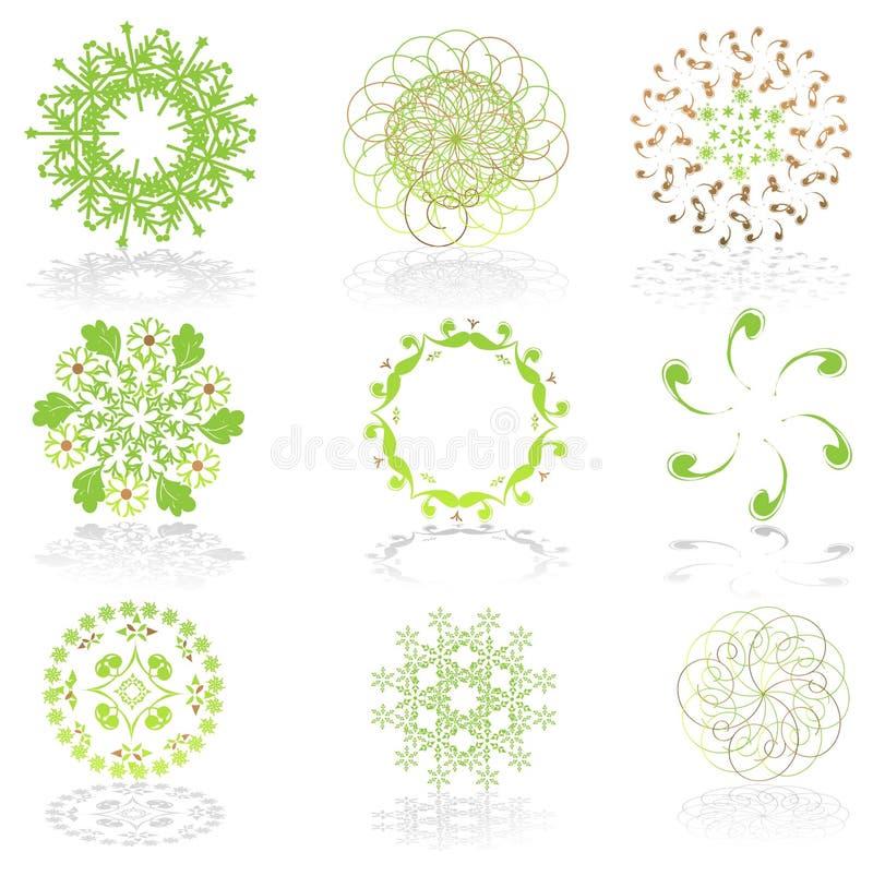 πράσινα εικονίδια γραφική διανυσματική απεικόνιση