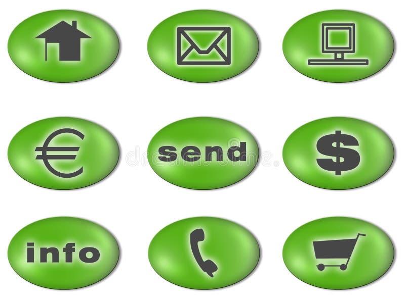 πράσινα εικονίδια απεικόνιση αποθεμάτων