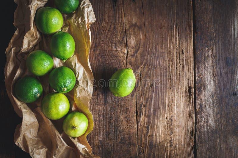 πράσινα λεμόνια στοκ εικόνα