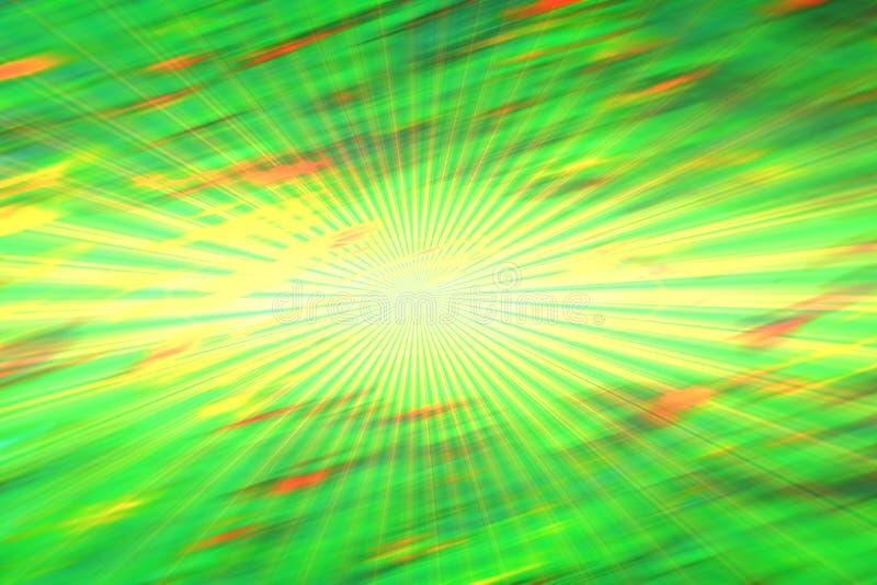 Πράσινα κίτρινα φω'τα, θολωμένα αφηρημένα φω'τα, γεωμετρία διανυσματική απεικόνιση