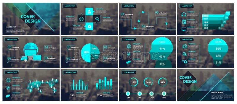 Πράσινα και μαύρα στοιχεία για το infographics ελεύθερη απεικόνιση δικαιώματος
