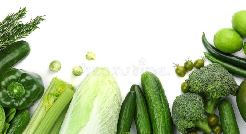 Πράσινα λαχανικά και φρούτα στοκ εικόνες