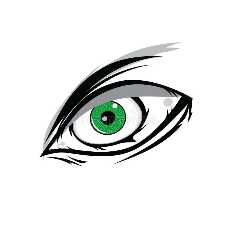 πράσινα μάτια Θεών horus κινούμενων σχεδίων για την τέχνηα σχεδίου comics ελεύθερη απεικόνιση δικαιώματος