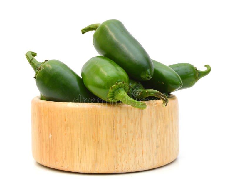 Πράσινα πιπέρια τσίλι στοκ εικόνες