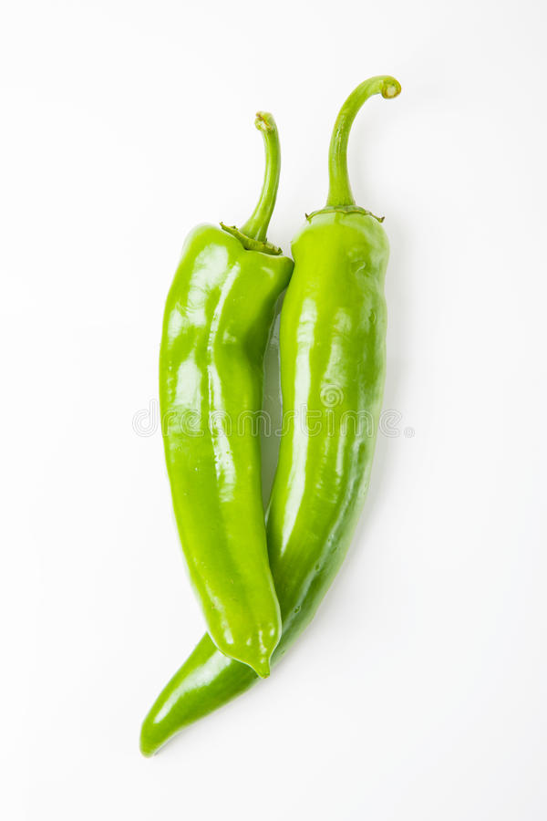 πράσινα πιπέρια δύο στοκ φωτογραφία