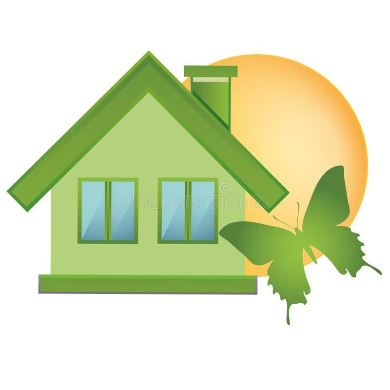 Πράσινα στοιχεία - εικονίδια οικολογίας για να συμβολίσει τη φύση, την οικολογία και την ενέργεια ελεύθερη απεικόνιση δικαιώματος