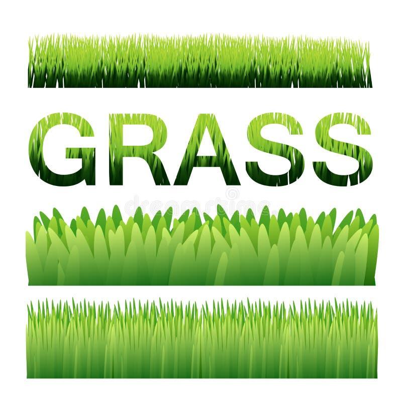 Πράσινα στοιχεία υποβάθρου χλόης διανυσματικά Ai10 στοκ φωτογραφία με δικαίωμα ελεύθερης χρήσης
