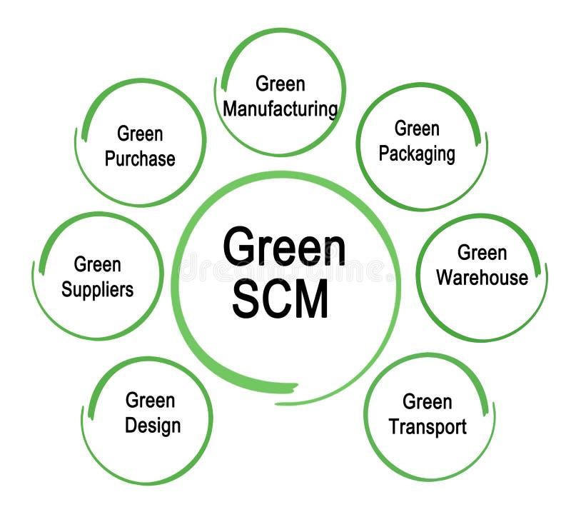 Πράσινα τμήματα SCM διανυσματική απεικόνιση