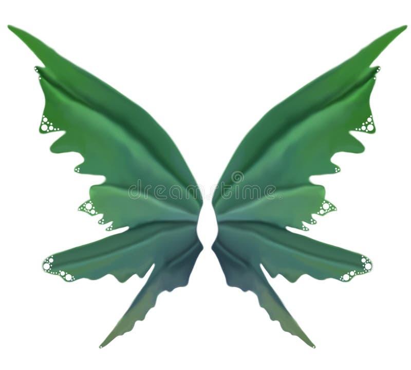 Πράσινα φτερά νεράιδων ανοίξεων ελεύθερη απεικόνιση δικαιώματος