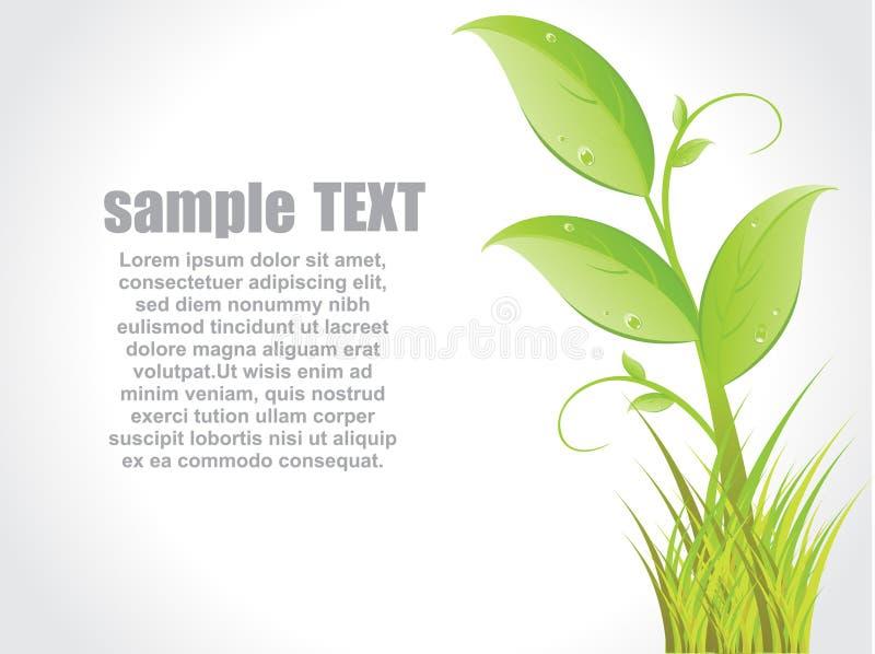 πράσινα φύλλα έννοιας απεικόνιση αποθεμάτων