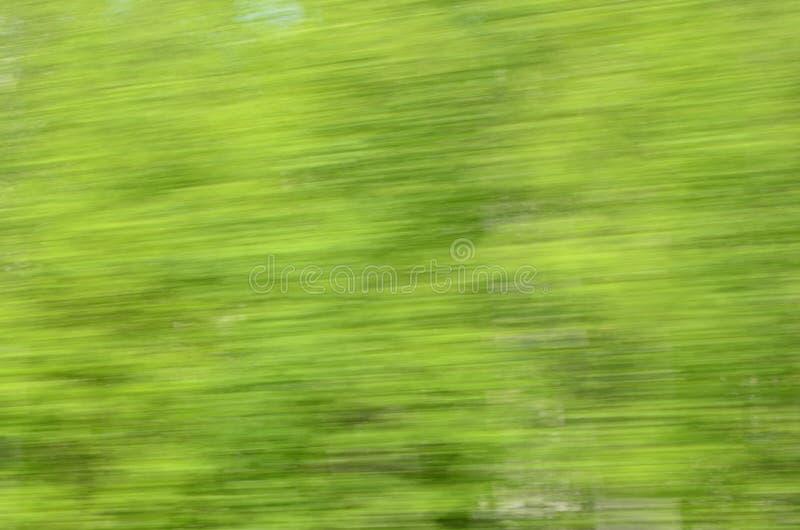 Πράσινα φύλλα αφαίρεσης με την ταχύτητα επιβατικών αμαξοστοιχιών στοκ φωτογραφία με δικαίωμα ελεύθερης χρήσης