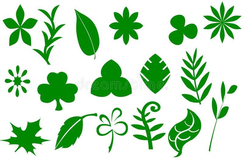 πράσινα φύλλα απεικόνιση αποθεμάτων