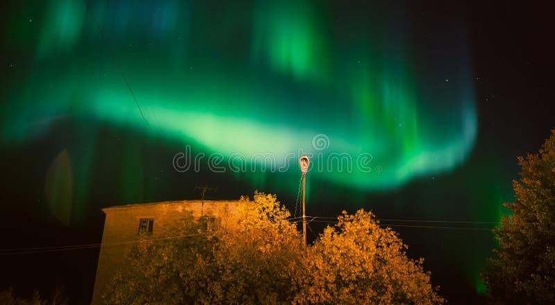 πράσινα φώτα βόρεια στοκ εικόνα με δικαίωμα ελεύθερης χρήσης