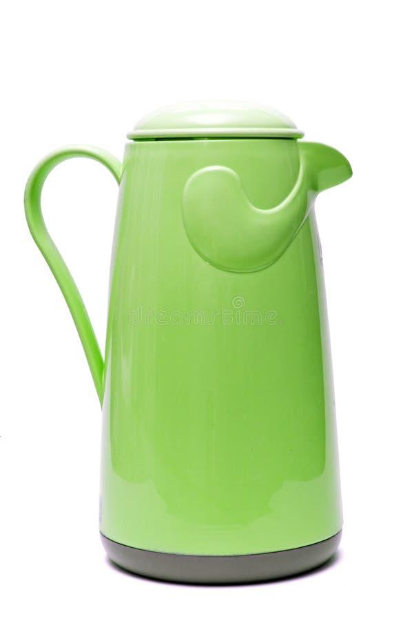 πράσινα thermos στοκ εικόνα