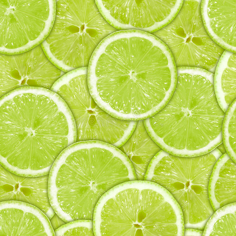 πράσινες άνευ ραφής φέτες προτύπων ασβέστη στοκ εικόνες