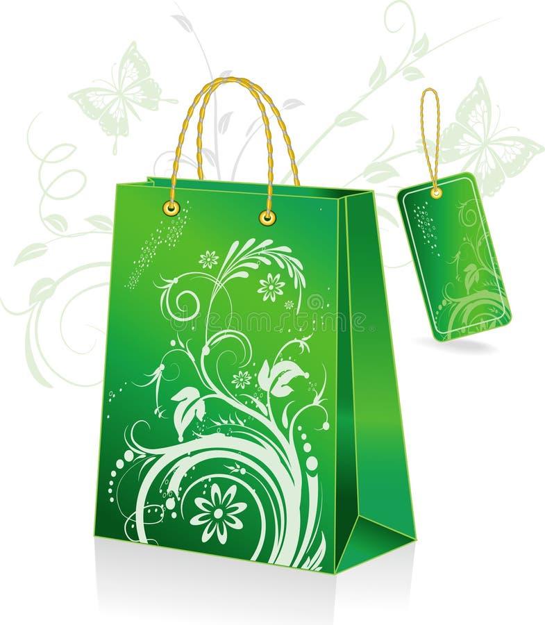 πράσινες αγορές τσαντών απεικόνιση αποθεμάτων