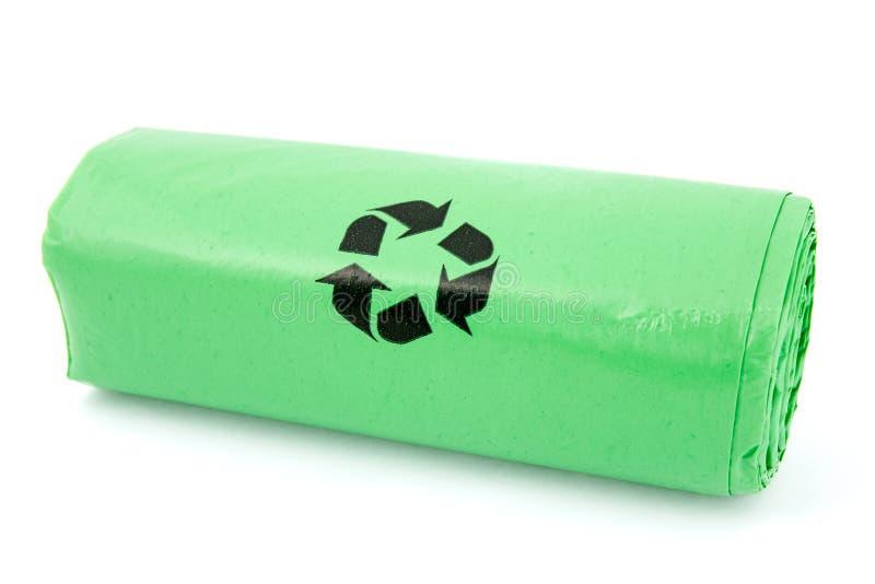 Πράσινες βιο τσάντες απορριμάτων στοκ εικόνες με δικαίωμα ελεύθερης χρήσης