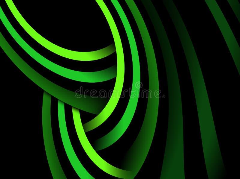 Πράσινες Γραμμές αφαίρεση&s διανυσματική απεικόνιση