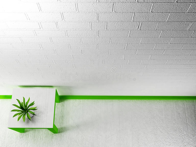 Πράσινες εγκαταστάσεις στο βάζο ελεύθερη απεικόνιση δικαιώματος