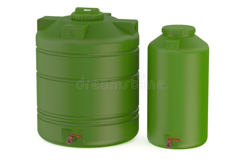 Πράσινες δεξαμενές νερού διανυσματική απεικόνιση