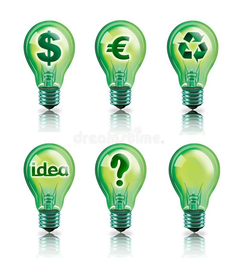 πράσινες ιδέες διανυσματική απεικόνιση