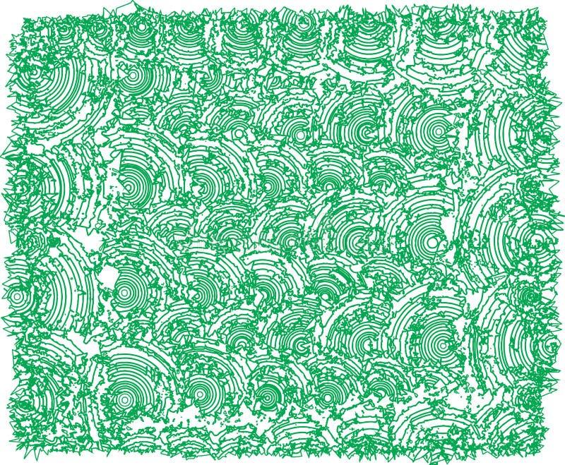 Πράσινες καμπούρεις συστάσεις περιλήψεων απεικόνιση αποθεμάτων