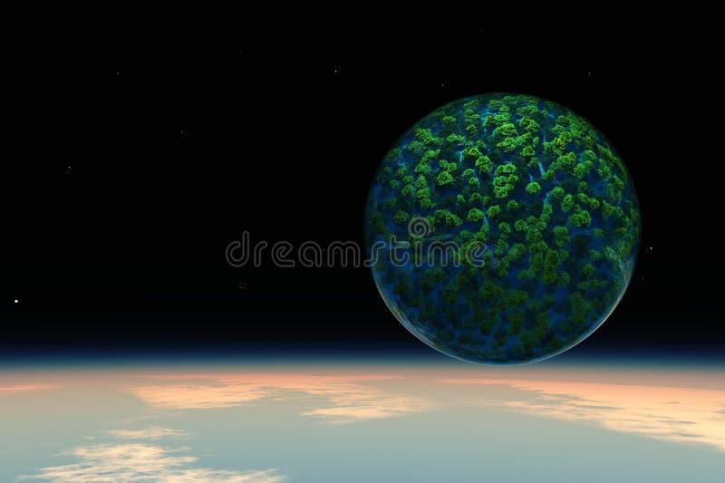 Πράσινες οικολογία και φύση πλανητών απεικόνιση αποθεμάτων