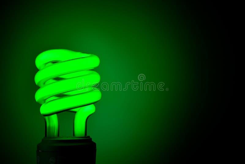 Πράσινη λάμπα φωτός Flourescent στοκ εικόνα