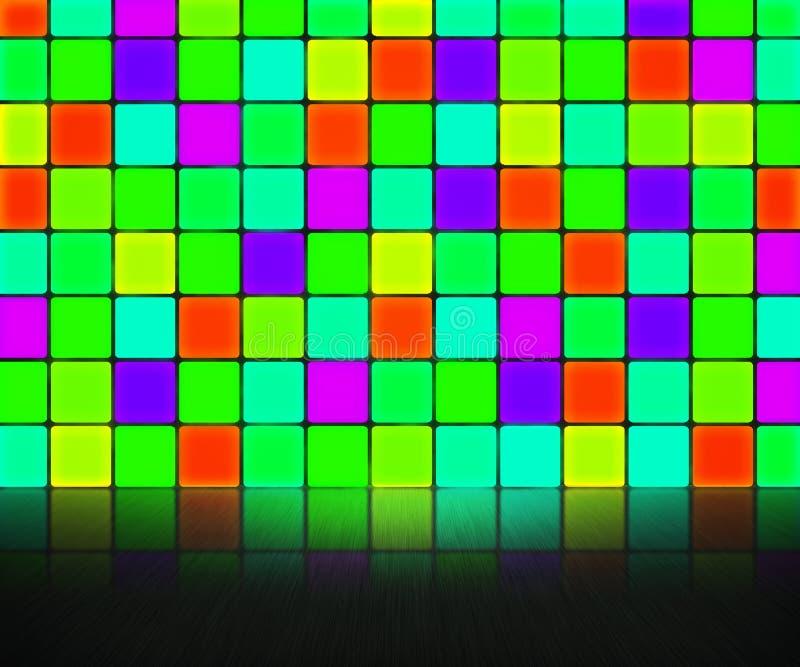 Πράσινη ανασκόπηση τοίχων Disco διανυσματική απεικόνιση