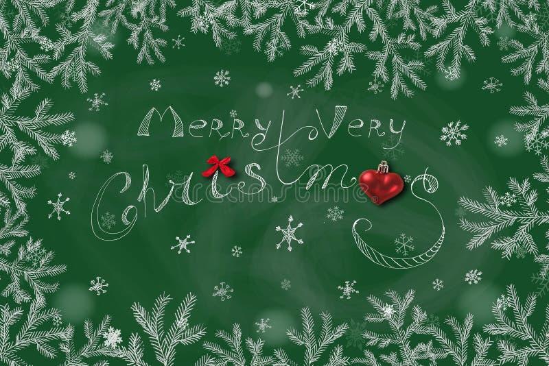 Πράσινη ανασκόπηση Χριστουγέννων Σχήμα απεικόνισης Έννοια διακοπών στοκ εικόνα