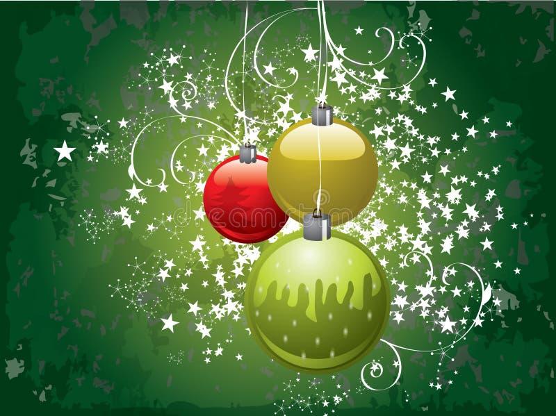 Πράσινη ανασκόπηση Χριστουγέννων ελεύθερη απεικόνιση δικαιώματος
