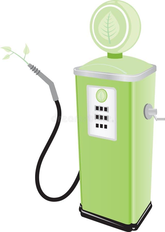 πράσινη αντλία καυσίμων διανυσματική απεικόνιση