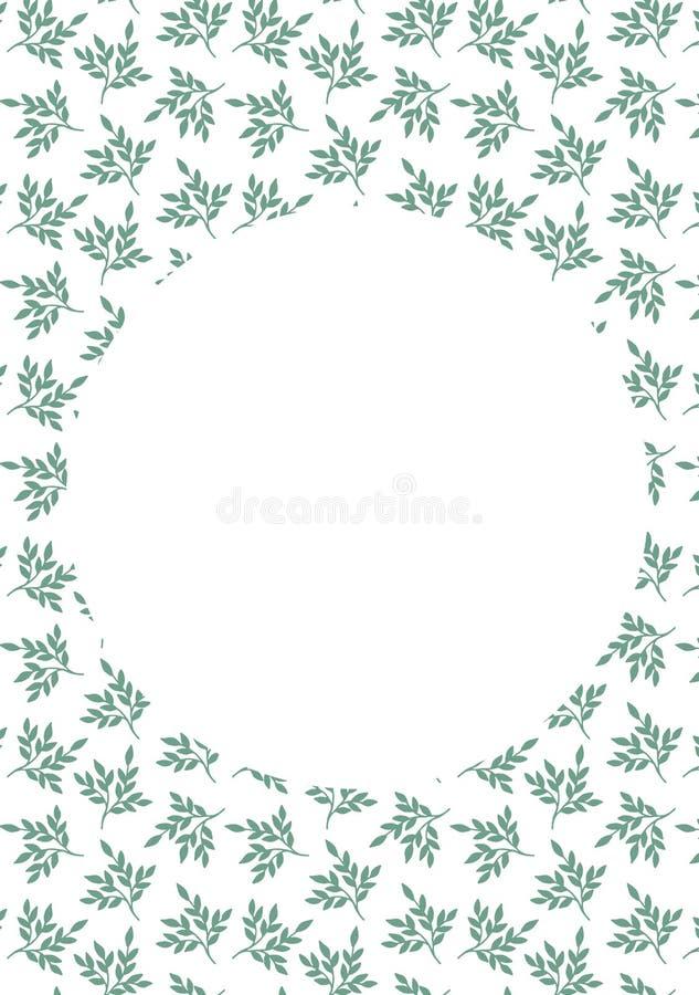Πράσινη απεικόνιση σχεδίων φύλλων γραφική στοκ εικόνες