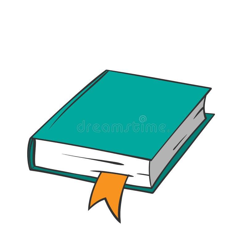 Πράσινη βίβλος κινούμενων σχεδίων ελεύθερη απεικόνιση δικαιώματος