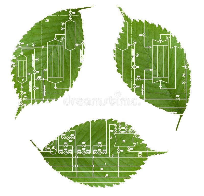 πράσινη βιομηχανία ανακύκλ& ελεύθερη απεικόνιση δικαιώματος