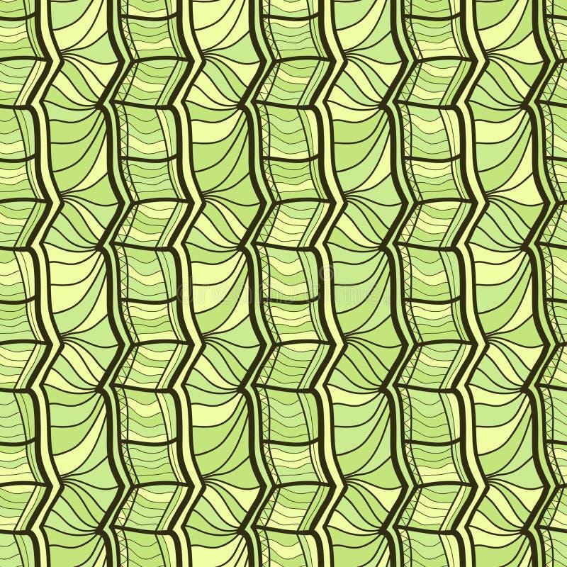 Πράσινη γεωμετρική διακόσμηση άνευ ραφής διάνυσμα προτύπων Μοντέρνη σύσταση deco σύγχρονης τέχνης Γεωμετρική εθνική τυπωμένη ύλη  διανυσματική απεικόνιση