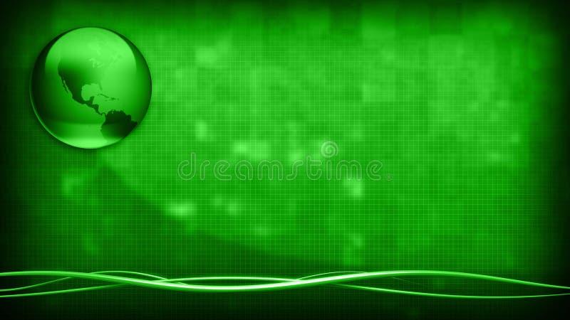 Πράσινη γη επιχειρησιακού υποβάθρου διανυσματική απεικόνιση