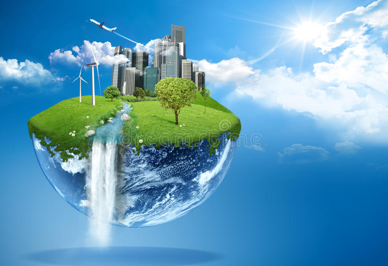 Πράσινη γη ελεύθερη απεικόνιση δικαιώματος