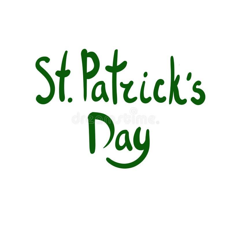 Πράσινη γράφοντας διανυσματική απεικόνιση ημέρας StPatric ` s πράσινο διάνυσμα διακοσμήσεων απεικόνισης σχεδίου τριφυλλιού ανασκό ελεύθερη απεικόνιση δικαιώματος