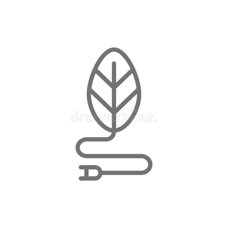 Πράσινη ενέργεια, εναλλακτικό εικονίδιο γραμμών ανανεώσιμης ενέργειας απεικόνιση αποθεμάτων