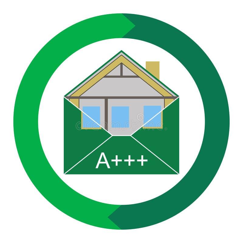 Πράσινη ενεργειακή αποδοτικότητα Weatherization φακέλων οικοδόμησης Eco σπιτιών ελεύθερη απεικόνιση δικαιώματος