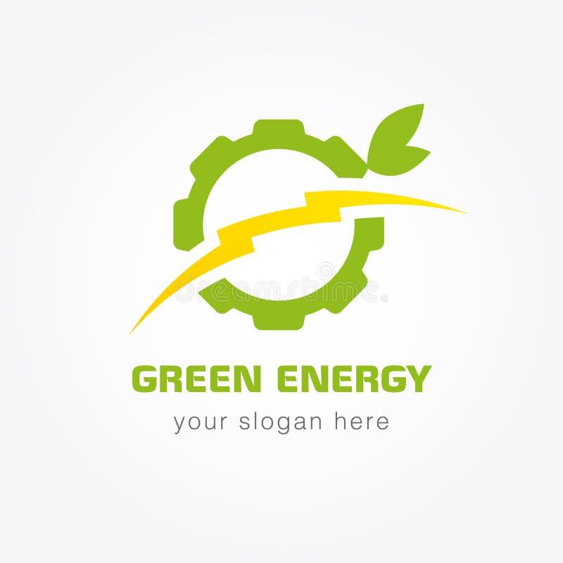 Πράσινη ενεργειακή επιχείρηση logotype διανυσματική απεικόνιση